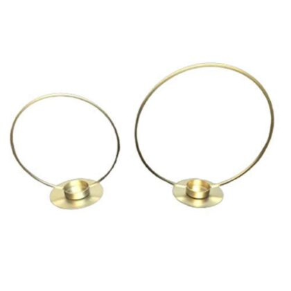 Maverics Round Wall Tealight Holder, Plain T-Light Wall Sconce/Candle Holder Set of 2, 10 * 10 and 8 * 8 Inch Diameter